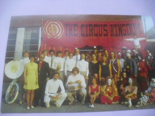 Circus Kingdom postcard clown 1960