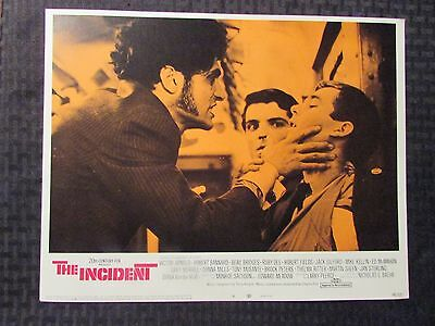 "1968 THE INCIDENT Original 14x11"" Lobby Card #5 6 FN/FN+ LOT of 2 Victor Arnold"