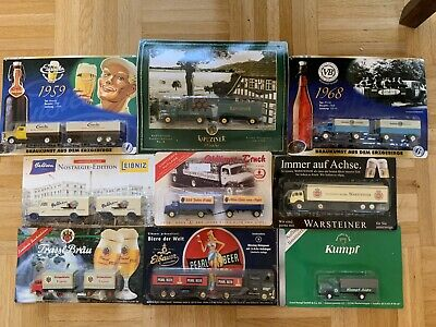 Old German Beer Truck Model Gift Lot Of 9 Limited Editions HO Scale