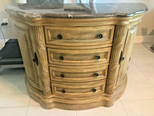 French Bombe Chest With Drawers Marble Top Bombay