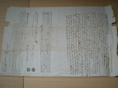 vintage legal document Illinois LaSalle County 1857 certificate of indenture
