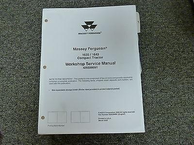 Massey Ferguson 1635 1643 Compact Tractor Shop Service Repair Manual 4283386m1