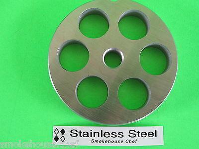22 X 34 Meat Grinder Plate Stainless Steel Fits Hobart Tor-rey Lem More