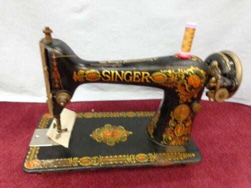 WORKING Vintage Singer Red Eye Treadle Sewing Machine