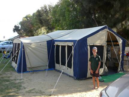 Canvas family tent Diamantina Sheraton Majestic & Diamantina Riviera 3 Room Canvas Tent | Camping u0026 Hiking | Gumtree ...