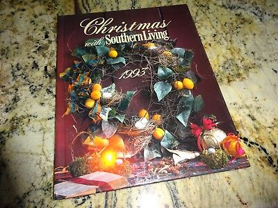 1993 Christmas with Southern living Holiday Ideas Crafts Cookbook Recipes Treats
