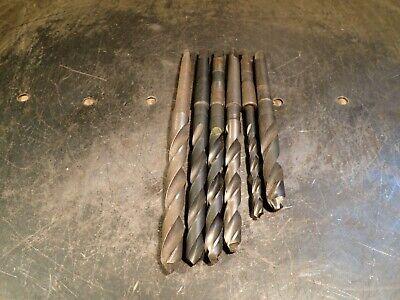 6 Piece Lot Morse Taper 1 Drill Bits 14 716 X3 3364 X2 Mt1 1mt Used