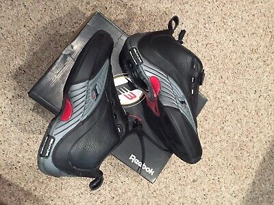 Reebok The Answer 4 IV Black And Red Mens Size 9