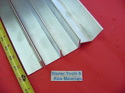 4 Pieces 2x 2x 18 Aluminum 6061 Angle Bar 48 Long T6 Std .125 Wall