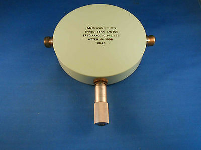 5444 Micronetics Attenuator Freq .800 Ghz - 2.5 Ghz Type N New Old Stock