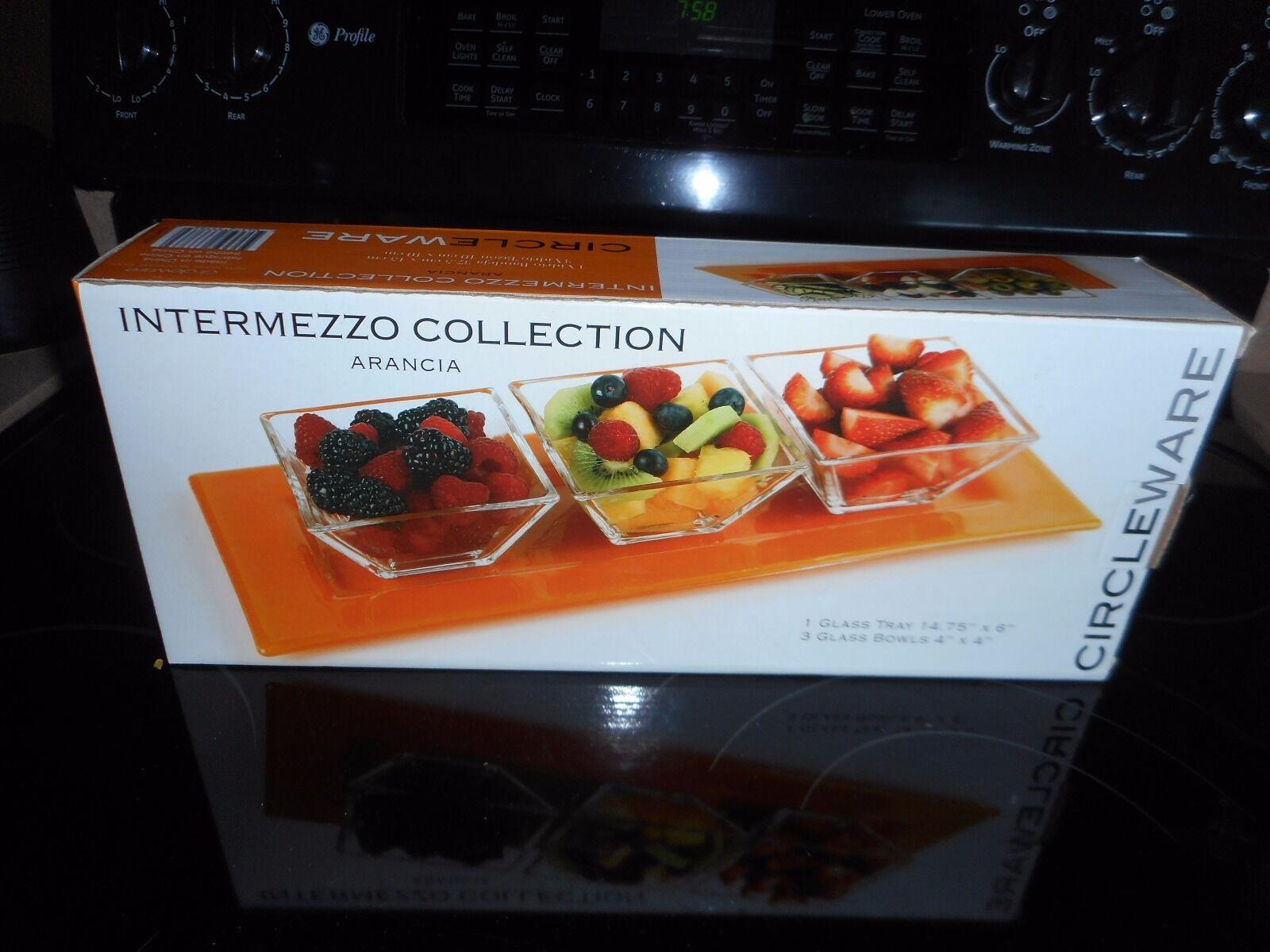 circleware intermezzo collection arancia glass tray