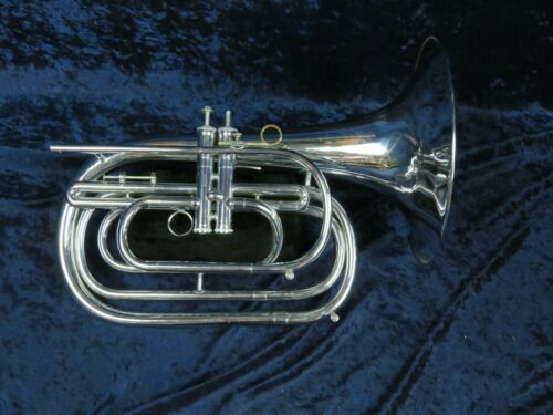 Dynasty Silver G French Horn Bugle Ser#N2773 2 Piston Valves Plays Great!