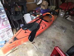 Kayak: Point 65 XO13 GTE with rudder.