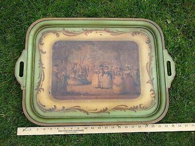 Victorianisches Butler Tablett old British Butlers Tray aus edlem Holz