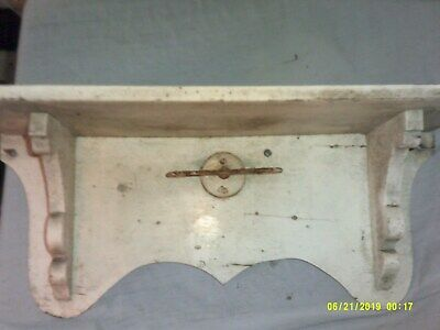 OLD PRIMATIVE WEATHERED HAVER RAZOR HOLDER WALL SHELF