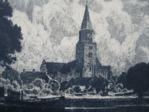 Brandenburg an der Havel Dom St. Peter und Paul Radierung Karl Oenicke Gemälde