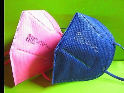 10 FFP2 Masken blau rosa pink Atemschutz CE Prüfstelle 2834 zertifiziert Neu