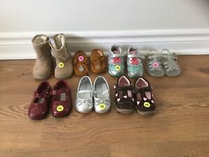 Size 4 toddler girl shoes, sandals and boots