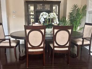 Pottery Barn Style Dining Table Set + Buffet