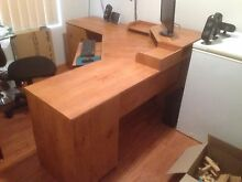 Large corner computer desk with chair Ellenbrook Swan Area Preview