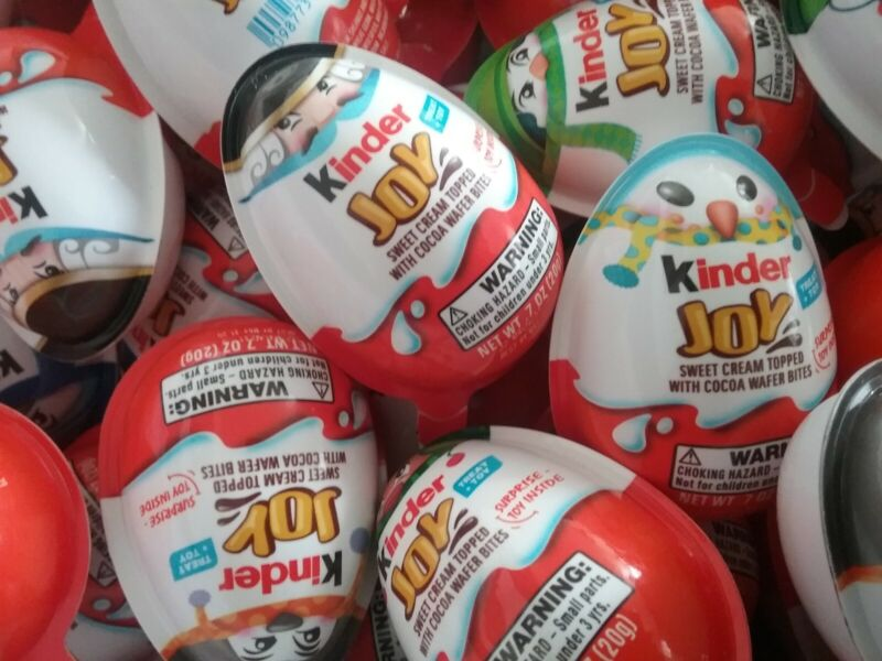 NEW Kinder Joy Christmas Limited Edition LOT of 74 Surprise w/ Chocolate & Toy