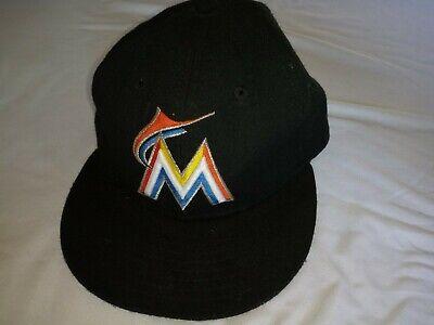 c575575c9 Maimi Marlins Baseball Hat New Era 59Fifty sz 7.5 Florida MLB Official on  Field