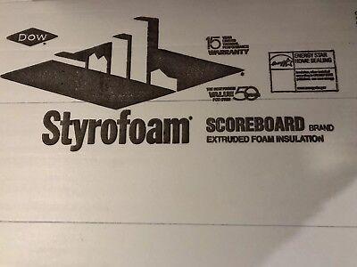 Dow R10 Faced Polystyrene Styrofoam Foam Board Insulation 2x4x8 4-sheets