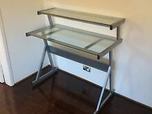 Compact and stylish glass and chrome desk Mosman Mosman Area Preview