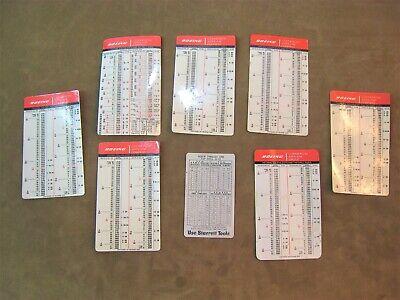 Vintage Boeing Starrett Decimal Equivalents Tap Drill Sizes Chart