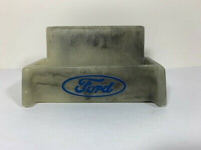 Vintage Ford Motor Company Business Card Holder Display, Plastic Marble