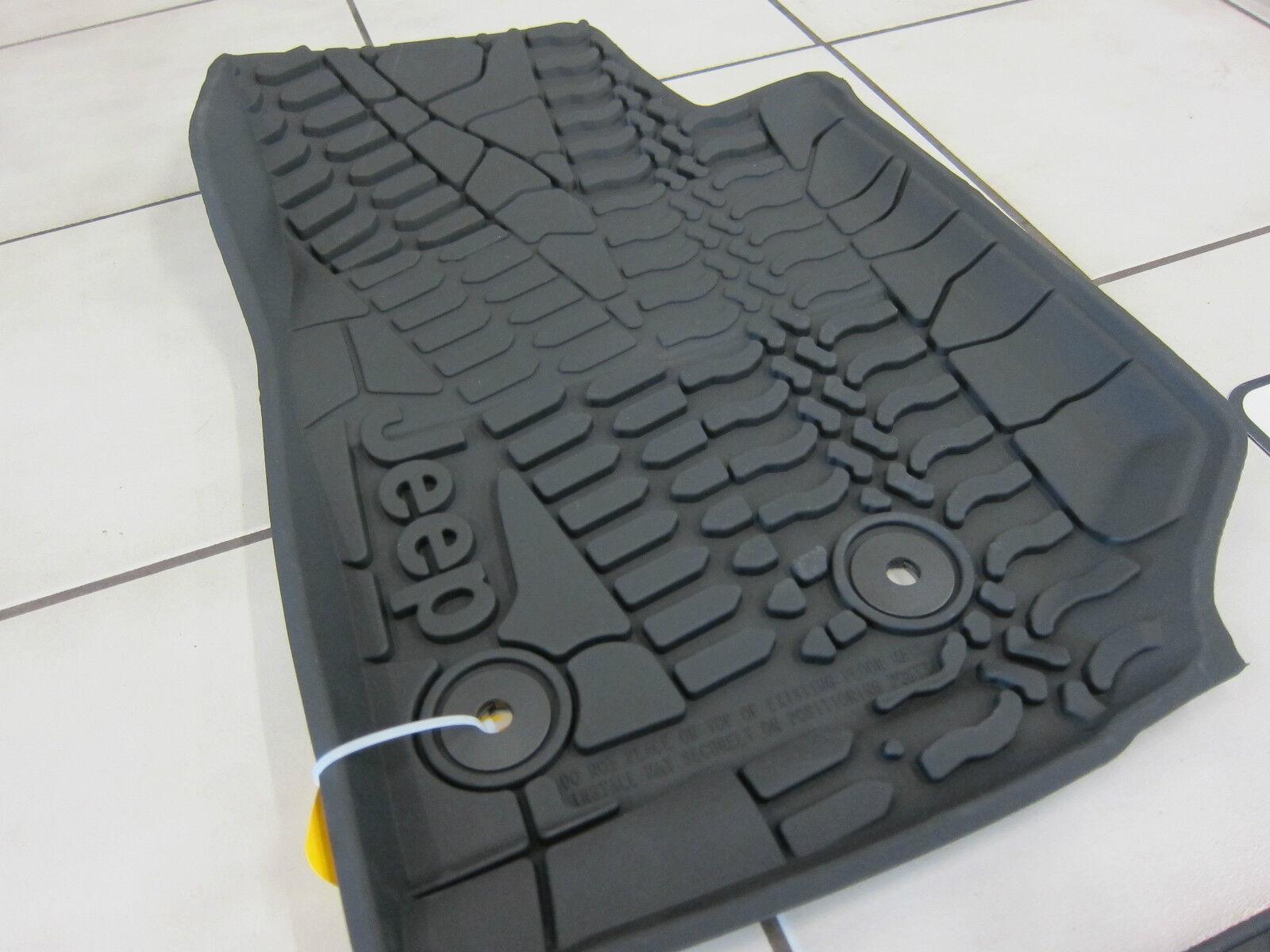 2014-2018 Jeep Wrangler JK Unlimited All Weather Rubber Slush Floor Mat Set  Mopar