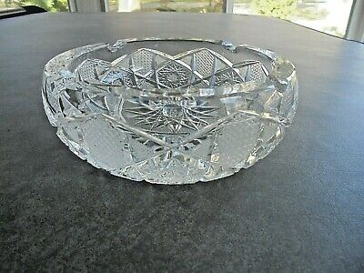 Vintage Crystal Ashtray Approx 6