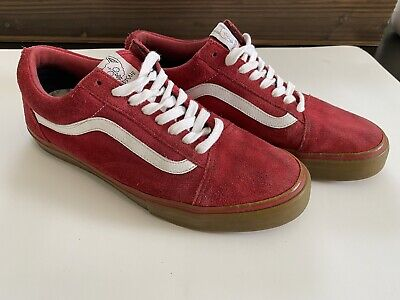 VANS X Golf Wang Syndicate Old Skool Red Gum  ~ Size 9.5 - RARE