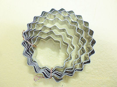 2 m  Bauwellenband EDELSTAHL rostfrei   18mm breit   *  Eiche Wellenband Rolle.