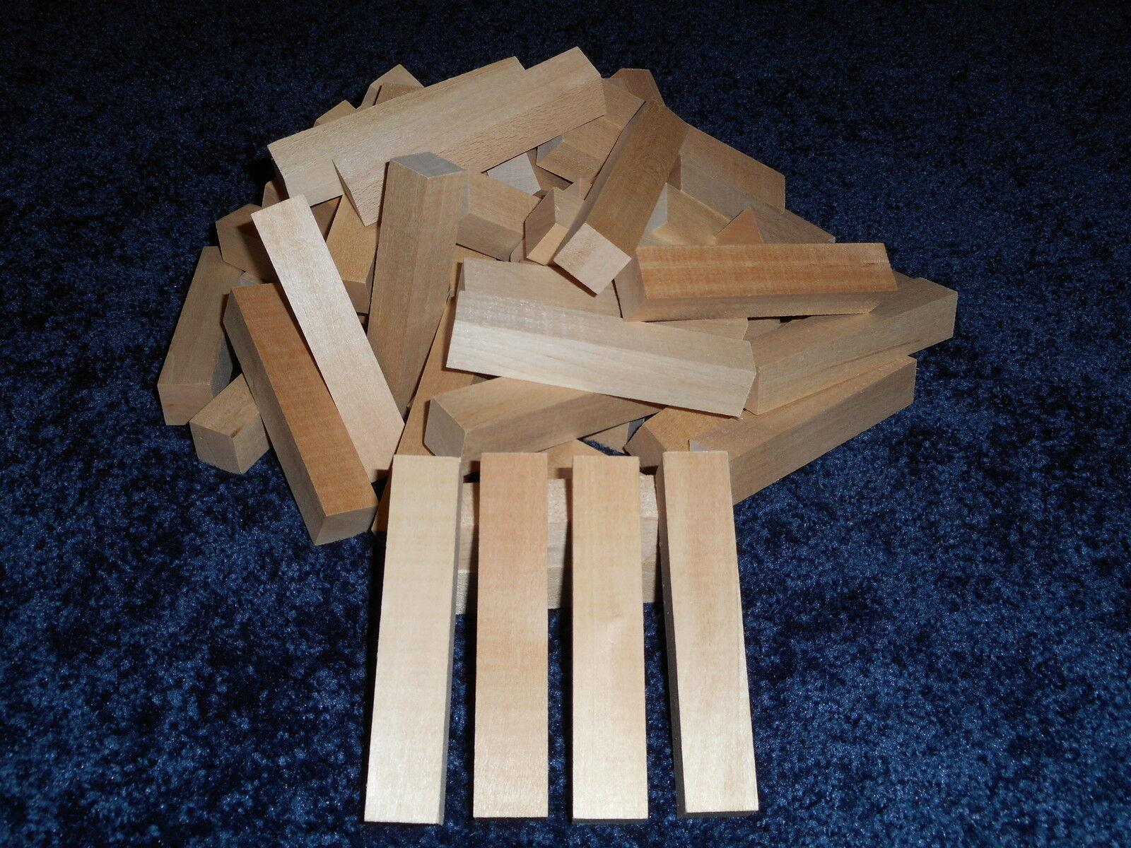"3/4"" x 3/4"" x 4"" Basswood Craft Lumber Carving Wood Blocks *"