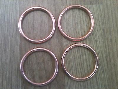 EXHAUST GASKETS SET HONDA VFR 750  VFR 800 NEW x 4 Copper