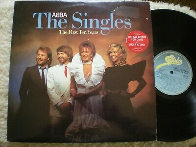 """Abba 2 lp Singles The First Ten Years """"Greatest Hits"""" UK Epic 10 NM"""