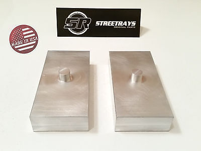"[SR] Sierra / Tundra / Silverado 1500 2500 HD 1"" Billet Rear Lift Blocks Kit"