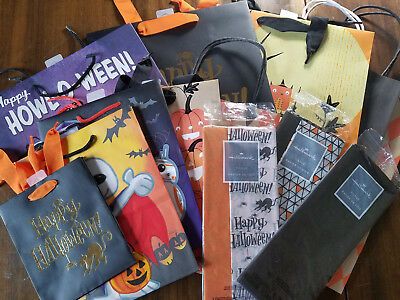 CHEAP!! L@@K!!  Halloween GIFT BAGS + TISSUE Hallmark sack treats party - Halloween Party Favors Cheap