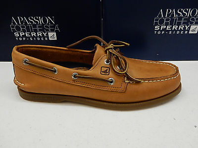 Sperry 7182 Mens Sahara Tan Leather Casual Lace-up Boat Shoes 10 ...
