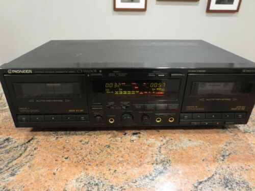 Pioneer CT-W650R Stereo Double Cassette Deck Recorder Replaced Belts Serviced