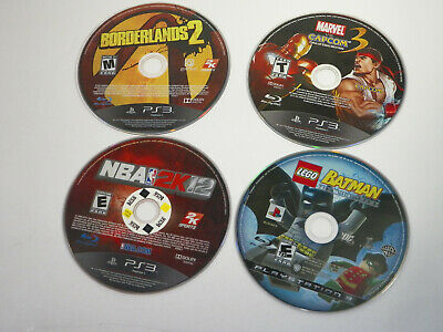 PS3 Lot of 4 Games, Lego Batman, Borderlands 2.... DISCS ONLY FREE SHIPPING