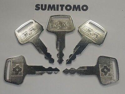 5 Sumitomo Case Linkbelt New Excavator Ignition Keys S450