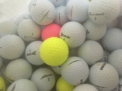 100 GOLF BALLS PINNACLE CALLAWAY SRIXON NIKE TITLEIST TOP FLITE ETC