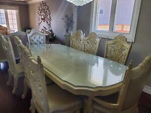 Dining table set with Display Cabinet
