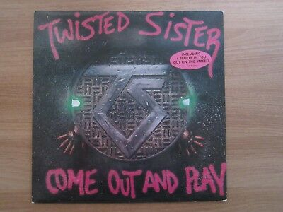 TWISTED SISTER COME OUT AND PLAY 7 Tracks 1986 Korea Orig LP Insert Sticker