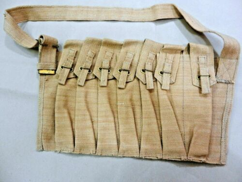 WWII UK Sten Seven Pocket Magazine Bandolier - Reproduction