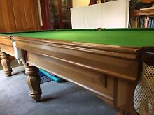 "Billiard Table - 9' x 4'6"" - Slate Top - Tasmanian Blackwood Bulleen Manningham Area Preview"