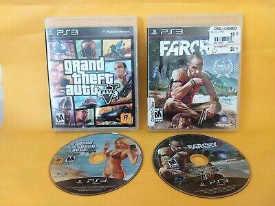 Grand Theft Auto V (Sony PlayStation 4, 2014) & Far Cry 3