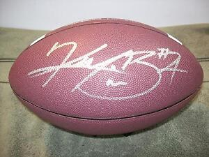 KENJON BARNER OREGON DUCKS SIGNED FOOTBALL W/COA